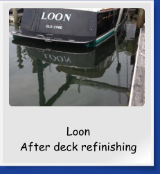 Loon  After deck refinishing